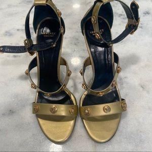 Versace gold heels